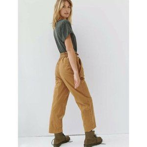 Free People Raquel Pleated Cinched Waist Trouser Pants